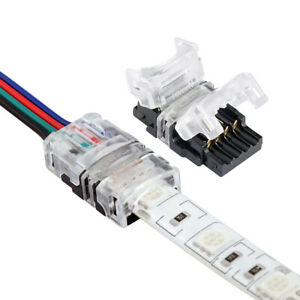 8/10/12mm 2-5 Pin LED Strip To Wire Quick Connectors Cable Clip Adapter 5Pcs 5D