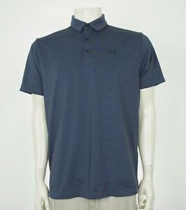 Under Armour UA Golf Playoff Gray Loose Golf Polo Shirt Mens Large $11.00