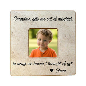 Grandkids Personalized Picture Frame Gift for Grandma