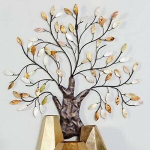 Tree of Life Metal Wall Decor Art Sculpture Leaves Indoor Hanging House Office $91.39