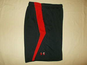 UNDER ARMOUR BLACK ATHLETIC BASKETBALL SHORTS MENS LARGE EXCELLENT CONDITION $6.70