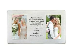Wedding Personalized Picture Frame Parents Gift for Dad