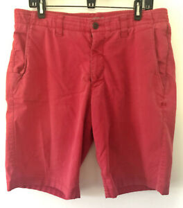 Mens UNDER ARMOUR Red Shorts Golf Preppy Stretch Athletic 34 36 $9.99