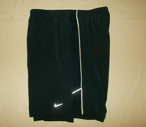NIKE DRI FIT BLACK REFLECTIVE RUNNING SHORTS WITH LINER MENS XXL EXCELLENT COND. $4.25