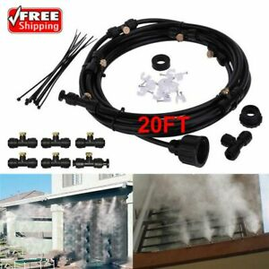 20FT Hose Outdoor Patio Water Mister Mist Nozzles Misting Cooling System Cooler