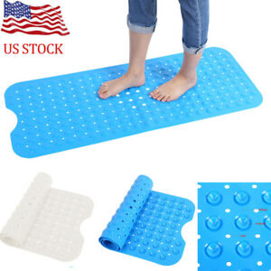 Rectangle Non-Slip Secure Safety Mat With Suction Cup Bathtub Kitchen Bathroom