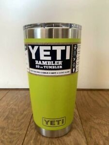 NEW Yeti Rambler 20 oz Chartreuse Tumbler with MagSlider Lid