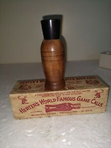 Vintage Herter's #903 Walnut DEER MASTER DEER Call, in original box, 4 1 4.