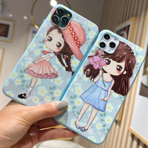 Illustration Pretty Girl Anti fall Phone Case For Iphone 11Pro Max X Xs 7 8 Cute