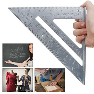 7#x27;#x27; Aluminum Triangle Square Ruler Speed Protractor Miter Framing Measuring $8.78