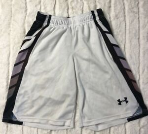 🏀 Under Armour Shorts Boys Size Youth Small YSM Black White 🏀 $15.00