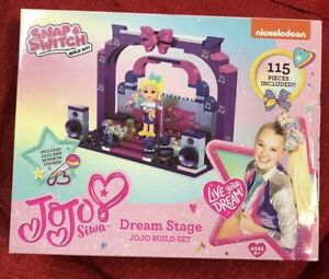 NICKELODEON JOJO SIWA SNAP AND SWITCH BUILD KITS DREAM STAGE 115 Pieces