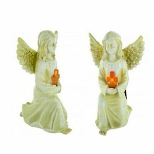 SOLAR ANGEL STATUE WITH CROSS $19.97