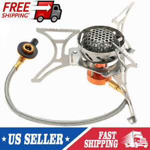 Hunting Docooler Windproof Foldable Camping Gas Stove Burner Furnace Outdoor BBQ