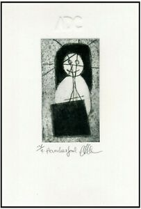 A HARMLESS FOOL - Original ETCHING Signed Limited-Edition Miniature Art Print $21.00