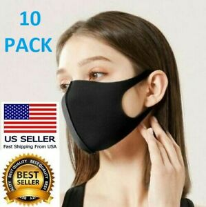✅10 PACK Men Women Unisex Face Mask Adult Cloth Cover Mask Reusable Washable USA