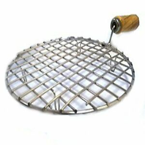 Barbeque Round Jali Roti Roast Handle paneer Roaster Chapati Toast Grill Wooden