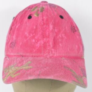 Pink Realtree Camouflage Girls Hunting Style Baseball Hat Cap Adjustable