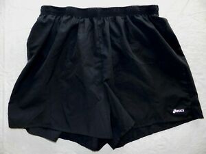 Womens shorts ASICS size XL black running shorts WITH briefs wh34 $15.00