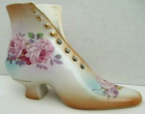 Vintage Ornate Made in Japan Ceramic Heeled Shoe A.A. Importing RS $8.54