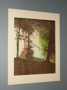LITHOGRAPH OF TREES BY THE ARTIST NASON PENCIL S N 172 500 $44.95