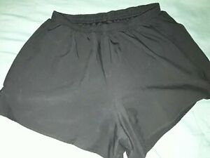 ASICS womens sz SMALL S black running shorts with inner briefs $12.55