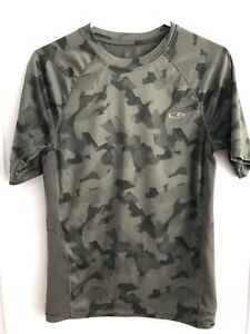 Mens Champion Camo Short Sleeve Duo Dry Shirt S Small Running Fitness Athletic $1.99