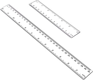 12quot; and 6quot; Plastic Ruler Flexible Ruler with inches and metric Measuring Tool $3.94