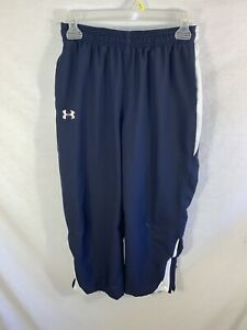 Kids Under Armour Sweatpants Youth Size Large Navy Blue Activewear Bottoms $9.99