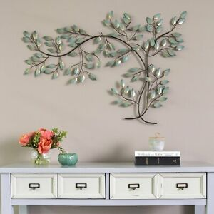 Tree Branch Wall Decor Art Sculpture Metal Hand Painted Home Office Living Room $105.91