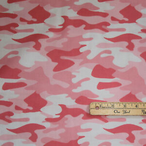 Nobody Fights Alone Camo Camouflage Medical Cotton Fabric 1 2 Yard #10420 Pink
