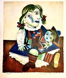 Picasso Original Hand Signed Limited Edition Lithograph Doll (Estate Collection) $145.00