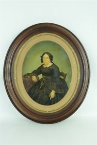Victorian Original Painting Antique Large Woman Frame Signed ID'd Granger  $225.00