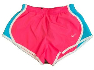 Nike Dri Fit Girls Small S Neon Pink blue Active Workout Running Shorts VGC $3.79