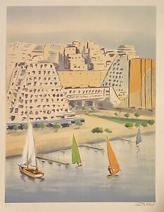 Grand Motte Original Hand Signed Limited Edition Lithograph Victor Zarau $45.00
