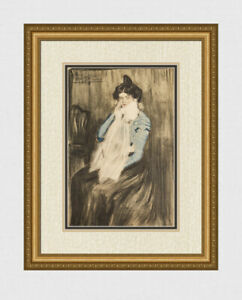 SIGNED PICASSO 1963 Pochoir quot;Lola Seated wearing White Scarfquot; FRAMED Limited COA $2999.00