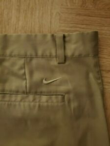 MENS NIKE GOLF KHAKI SHORTS SZ 38 TOUR PERFORMANCE DRI FIT $8.50
