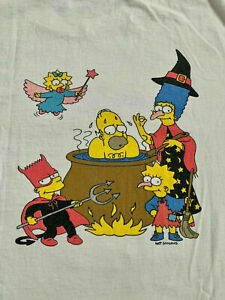 The Simpsons Vintage Promotional T Shirt Fox#x27;s Halloween Bash 94 Reprint US Gift $17.95