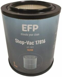 EFP Red Stripe Wet Dry Cartridge Filter for Craftsman 9 17816 8.5quot; amp; Sealing Cap