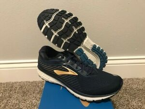 Brooks Men's Ghost 12 Running Shoes Size 12 Navy Deep Water Gold New In Box $59.99