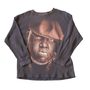 Vintage Brooklyn Mint Biggie Big Print Brown Sweater Size 2XL In Great Condition $175.00