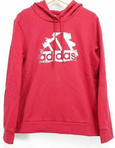 New Adidas Womens See U Hoodie Metallic Graphic Red Hoodie Sweatshirt XS XL $33.99
