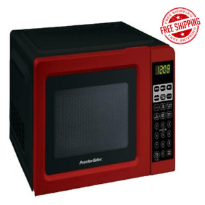 Digital Small Kitchen Countertop Microwave Oven 0.7 Cu.ft 700W Mini Black Red