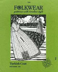Folkwear #106 Turkish Coat Boot length Reversible Quilted Sewing Pattern S L $19.95