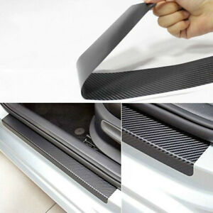 New Accessories Carbon Fiber Vinyl Car Door Sill Scuff Plate Sticker Protector