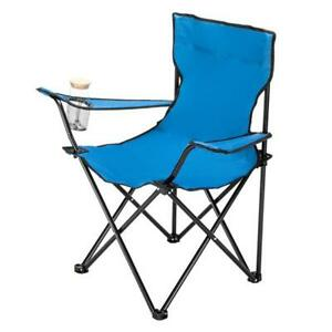 80x50x50 Outdoor Camping Chairs Portable Folding Chair Small Carrying Bag Blue