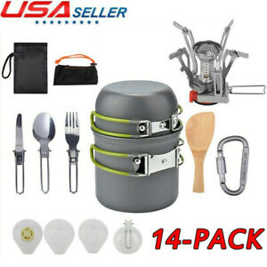 Portable Outdoor Camping Cookware Stove Hiking Backpacking Cooking Picnic Gear