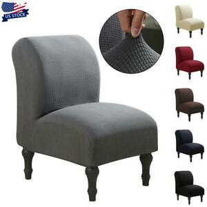 Stretch Armless Chair Accent Chair Cover Protector Slipper Chair Slipcover USA
