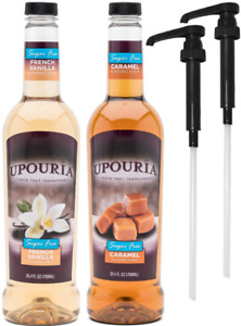 Upouria Skinny Syrup Sugar Free Coffee Syrup Variety Pack French Vanilla and C $36.18