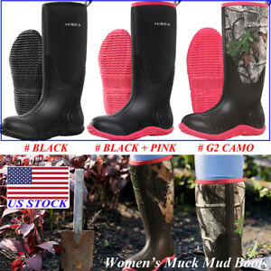 HISEA Women#x27;s BREATHABLE Rubber Boots Waterproof Snow amp; Rain Muck Hunting Boots